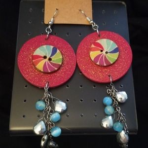 NWOT One Of A Kind Wooden Earrings